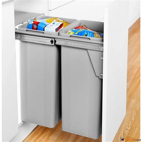 Kitchen Bin Inside Cupboard Door by Cupboardware Wesco Pull Out Waste Bin 64 Litre Door