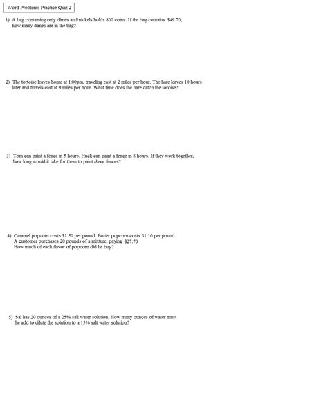 quadratic functions word problems worksheet worksheets for