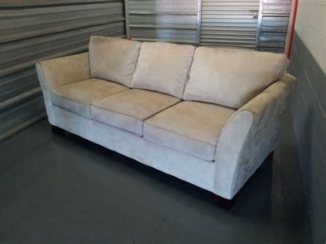 cream microfiber sectional sofa great condition cream microfiber sofa couch loose back