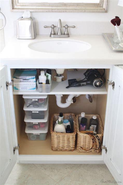 bathroom sink storage ideas creative sink storage ideas hative