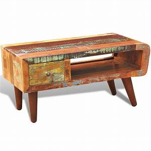 Vidaxlcouk antique style reclaimed wood coffee table for Reclaimed teak wood coffee table