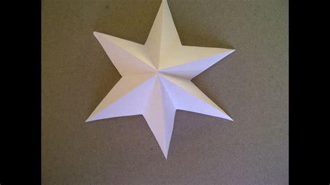 sterne falten aus papier 3d sterne basteln 6 zackiger aus papier falten sehr einfach