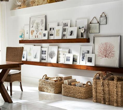 gallery ledge shelves 6 ways to set up a gallery wall
