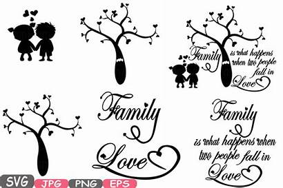 Svg Silhouette Tree Quote Clip Word Clipart