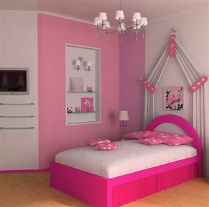 Elegant Teenage Girl Pink Bedroom Design | New Home Scenery