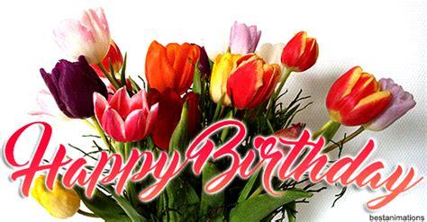happy birthday stickers shape tulip designer happy birthday gifs to send to friends