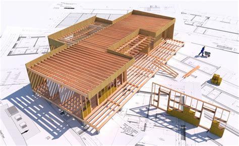 plan maison ossature bois sch 233 ma et montage boismaison