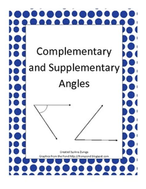 Complementary And Supplementary Angles Practice By Teaching From Az