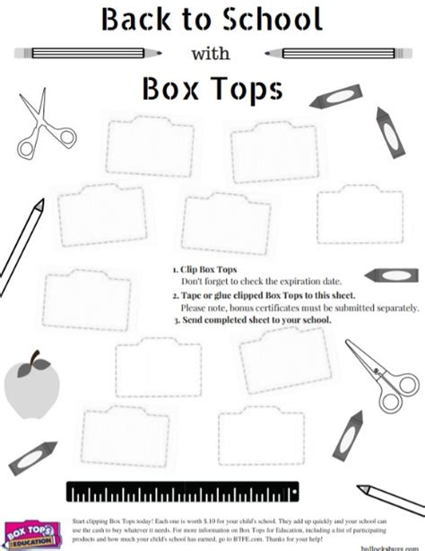 3 ways to help your child s school free box tops collection sheet