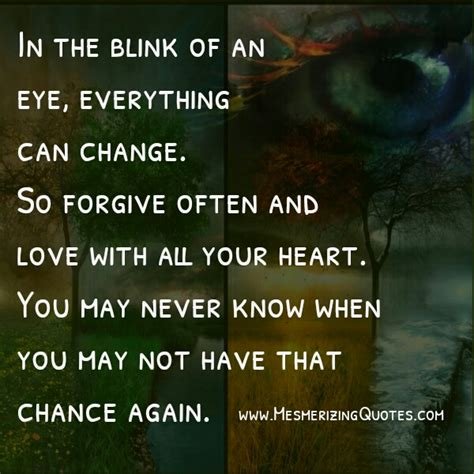 Within A Blink Of An Eye Quotes