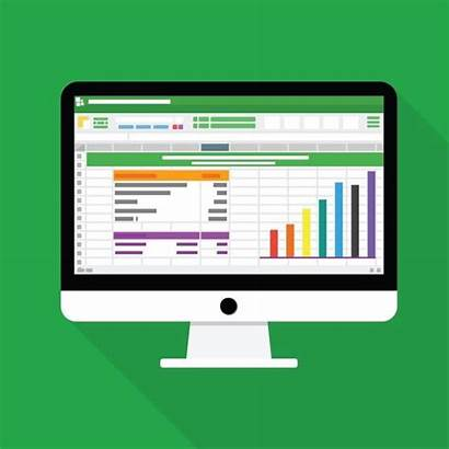 Spreadsheet Icon Report Computer Accounting Flat Financial