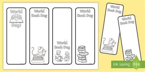 * New * World Book Day Design A Bookmark Activity