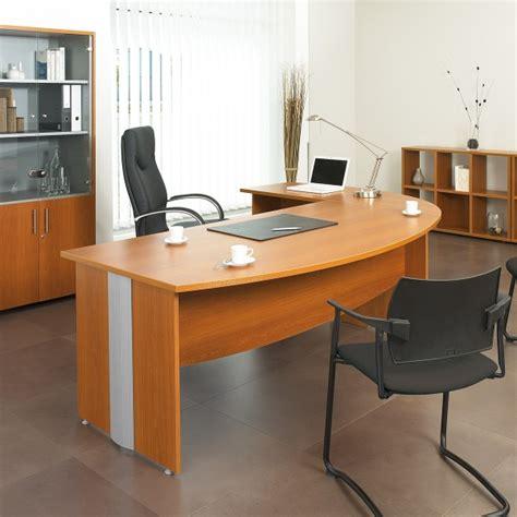 bureau en bois bureau droit bois et aluminium majestik lemondedubureau