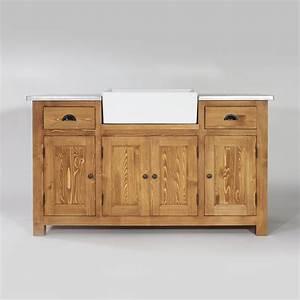 je mise sur une cuisine originale et ouverte made in With meuble de cuisine bois massif