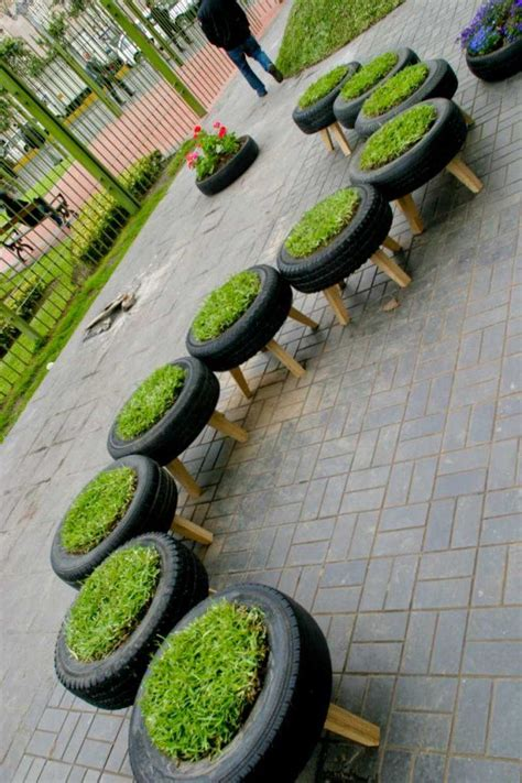 tire garden city tire planters 1 these tire planters were created at one