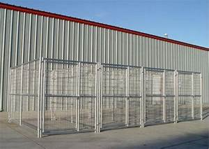 Heavy duty 4 run dog kennel 539x1039x639 steel construction for 4 run dog kennel