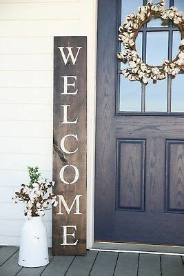 sign vertical  sign front porch rustic