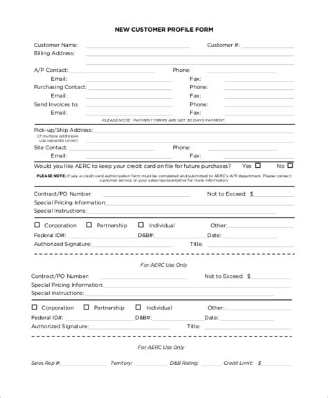 client profile template 8 sle customer profiles sle templates