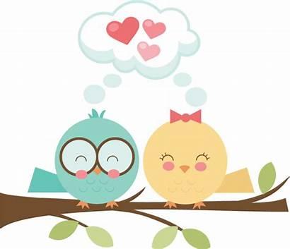 Bird Birds Clipart Valentines Clip Couple Svg