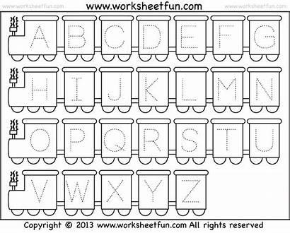 Tracing Worksheets Alphabet Letter Pre Letters Printable