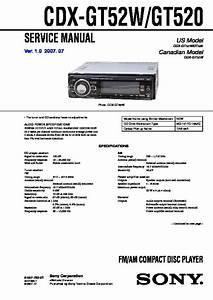 Sony Cdx-gt520  Cdx-gt52w Service Manual