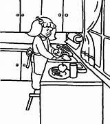 Coloring Washing Dish Colornimbus sketch template
