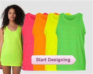 Custom Neon Shirts Custom Neon Tank Tops Personalized