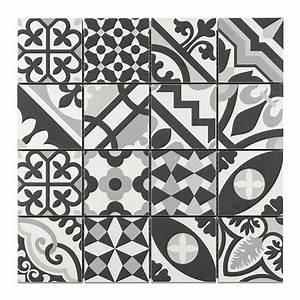 mosaique carreaux de ciment blanc noir 7 x 7 cm With carreaux de ciment noir et blanc