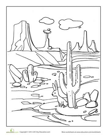 desert coloring page  images coloring pages