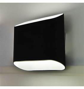 Appliques Murales Noires : applique murale noire led design verre ~ Edinachiropracticcenter.com Idées de Décoration