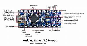 Arduino Nano Pinout  U0026 Schematics - Complete Tutorial With Pin