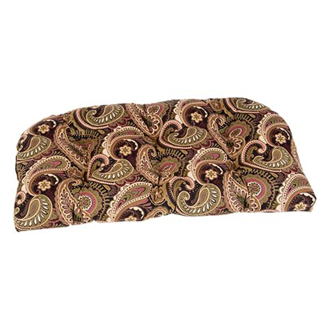 Paisley Settee by Black And Brown Paisley Wicker Settee Cushion Boscov S