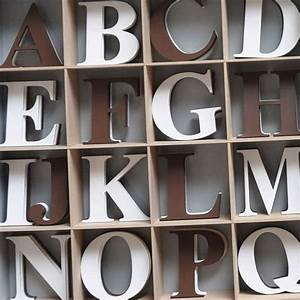 espresso and white capital wooden wall letters for baby With coffee letters for wall
