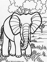 Elephant Coloring sketch template