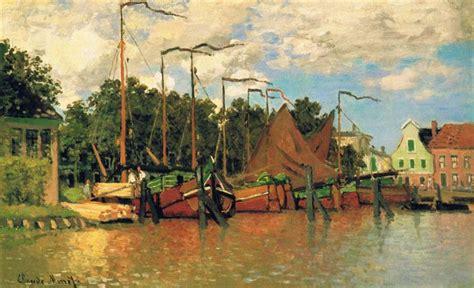 boats  zaandam  claude monet wikiartorg