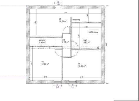 plan maison 騁age 4 chambres plan maison etage 110m2 bricolage maison