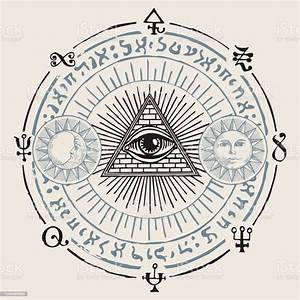 Vector, Banner, With, Third, Eye, And, Esoteric, Symbols, Stock