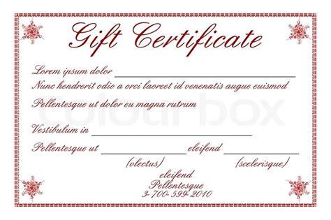 illustration  gift certificate  white background