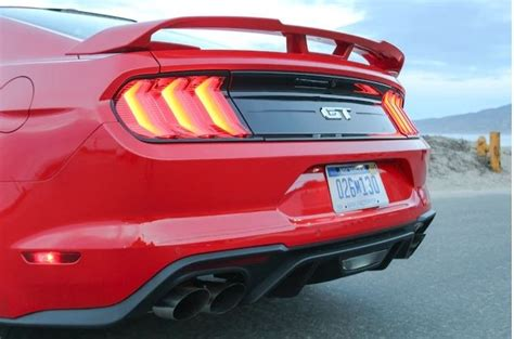 ford mustang performance pack matte black rear