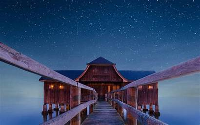 Night Boathouse Wallpapers Widescreen 1050 1680 1440