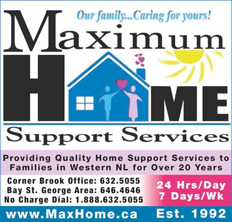 home support services maximum home support services inc corner brook nl 3