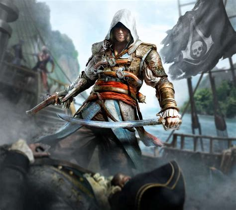 Assassin's creed iv black flag tells the story of edward kenway, a young british man with a thirst for danger and adventure, who falls from privateering for the royal navy into piracy as the war between the major empires comes to an end. Assassin's Creed 4: Black Flag wallpapers or desktop backgrounds