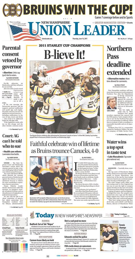 Bruins Championship Front Pages | Musings from the Den Mother