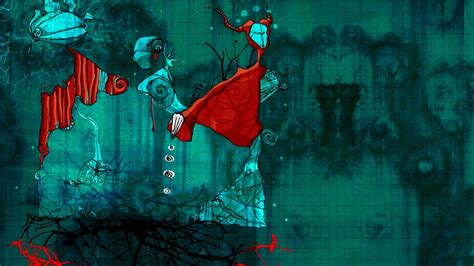 abstract red artwork turquoise wallpaper