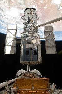 Sm4  Hubble Space Telescope Just Before Astronauts Released It