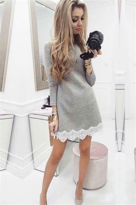 szara sukienka katrine grey z dzianiny na co dzień