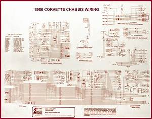 Corvette Wiring Diagram Laminated 17 X 22 78    74053s