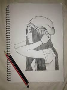 Sad Girl Sketches Drawings