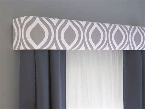 Box Valance For Sale by Gray Cornice Board Valance Window Treatment By