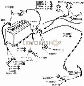 Battery  Starter Solenoid And Cables - Petrol Models